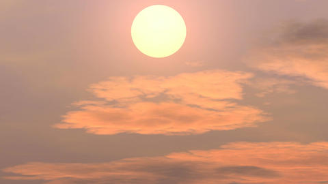 The setting sun over the mountains Animation