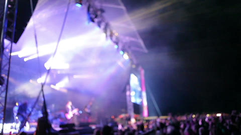 Rock Festival Open Air Event stock footage