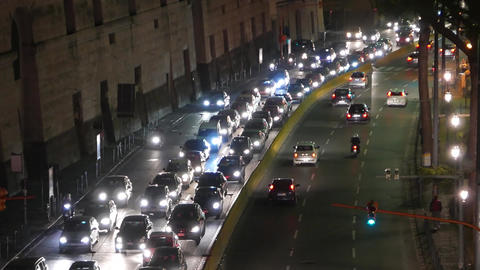 Traffic Block On The Road stock footage