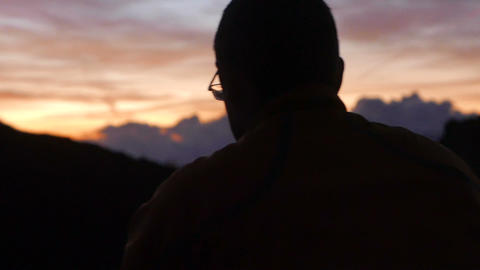 Recording Sunrise stock footage
