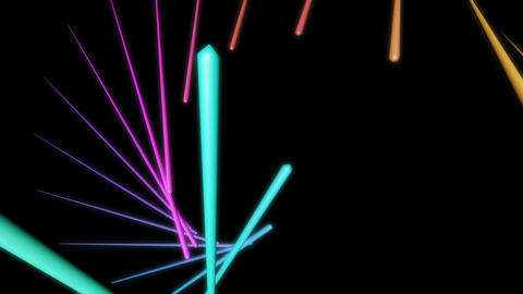 glowing neon stick Animation