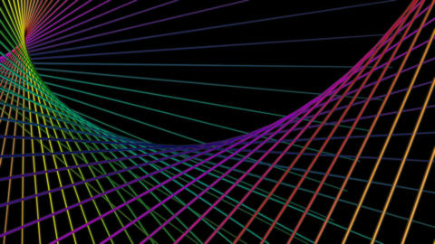 colorful net space Animation