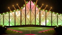 Entertainment TV Studio Set 17 Virtual Green Scree stock footage