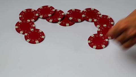 I love you of poker chips time lapse Footage