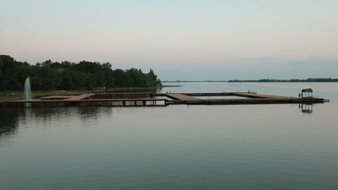 Pier on a quiet lake Footage