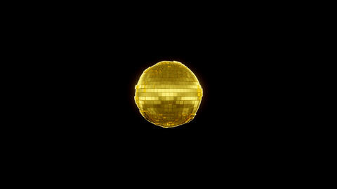 Gold Sphere Beat with alpha Animation