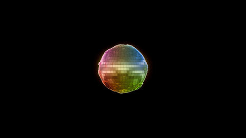 Color Sphere Beat With Alpha stock footage