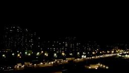 Night city Busy traffic Footage