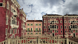 Venice Buildings Clouds Timelapse 05 Stock Video Footage