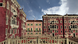 Venice Buildings Clouds Timelapse 05 Stock Video Footage