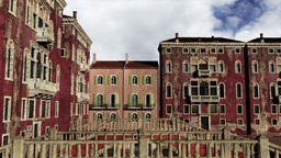 Venice Buildings Clouds Timelapse 02 Stock Video Footage