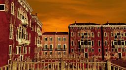 Venice Buildings Clouds Timelapse Stock Video Footage