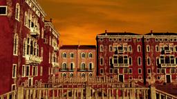 Venice Buildings Clouds Timelapse Animation