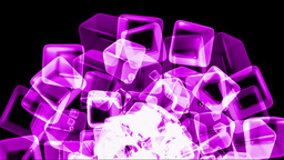 Purple Ice Block,crystal Jewelry Necklace,flying Glass Boxes And Rays Light,tech Web Cubes Matrix stock footage