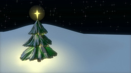 Christmas tree CG動画素材