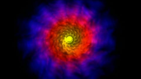 blue fancy light,whirl nebula,seamless... Stock Video Footage