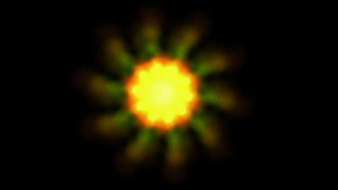 Sun halo,yellow rays,universe,stars,planets,solar... Stock Video Footage