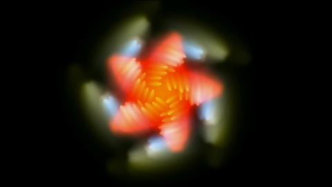 spin flower pattern,oriental... Stock Video Footage