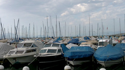 Boats in Evian France Footage