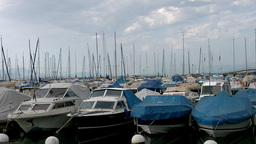 Boats in Evian France Stock Video Footage