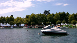 Boats on a Lake Stock Video Footage