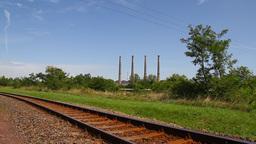 Industrial View 03 railway Stock Video Footage