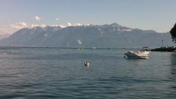 Lake Geneva Lac Leman 01 Stock Video Footage