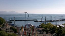 Lake Geneva Lac Leman 07 Lausanne Stock Video Footage