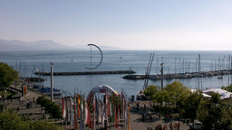 Lake Geneva Lac Leman 07 Lausanne Stock Video Footage