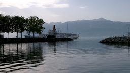 Lake Geneva Lac Leman 11 Stock Video Footage