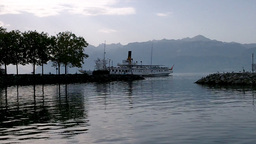 Lake Geneva Lac Leman 11 Stock Video Footage