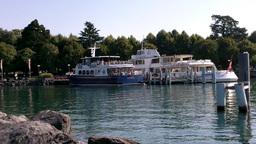 Lake Geneva Lac Leman Lausanne Port Stock Video Footage