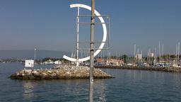 Lake Geneva Lac Leman Port Stock Video Footage