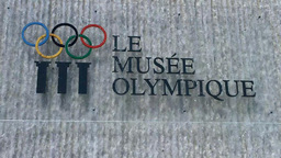 Lausanne Olympic Museum Switzerland 03 Stock Video Footage