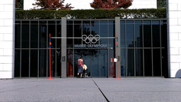 Lausanne Olympic Museum Switzerland 07 entrance Footage