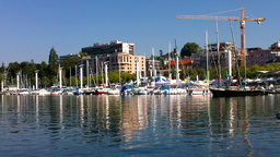 Lausanne Switzerland Port 01 Footage