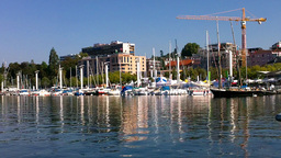 Lausanne Switzerland Port 01 Stock Video Footage