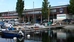 Port in Lausanne Switzerland Stock Video Footage
