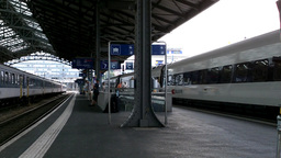 Railway Station Switzerland 02 Stock Video Footage