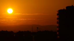Beautiful Sunset Over Industrial City 01 Stock Video Footage