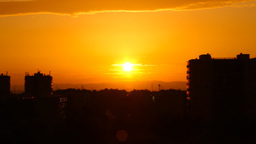 Beautiful Sunset Over Industrial City 06 Stock Video Footage
