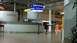 Switzerland Geneva Airport Terminal 02 Stock Video Footage