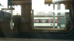 Through Train Window Graffiti Stock Video Footage