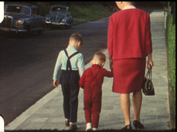 Sunday family walk (vintage 8mm film) Footage