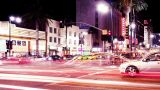 Hollywood Blvd. Time Lapse stock footage