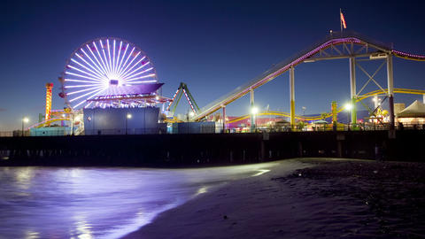 Santa Monica Pier, Time Lapse Stock Video Footage