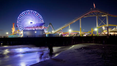 Santa Monica Pier, Time Lapse Footage