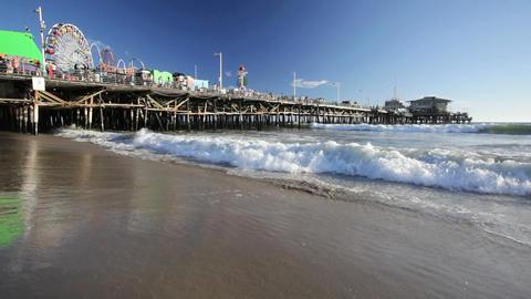 Santa Monica Pier Stock Video Footage