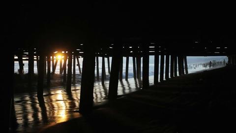 Sun Under the Pier Stock Video Footage