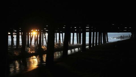 Sun Under the Pier Footage